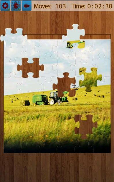 田舎のジグソーパズル
