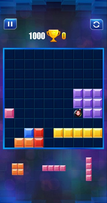 ブロックパズルのアーケードモード