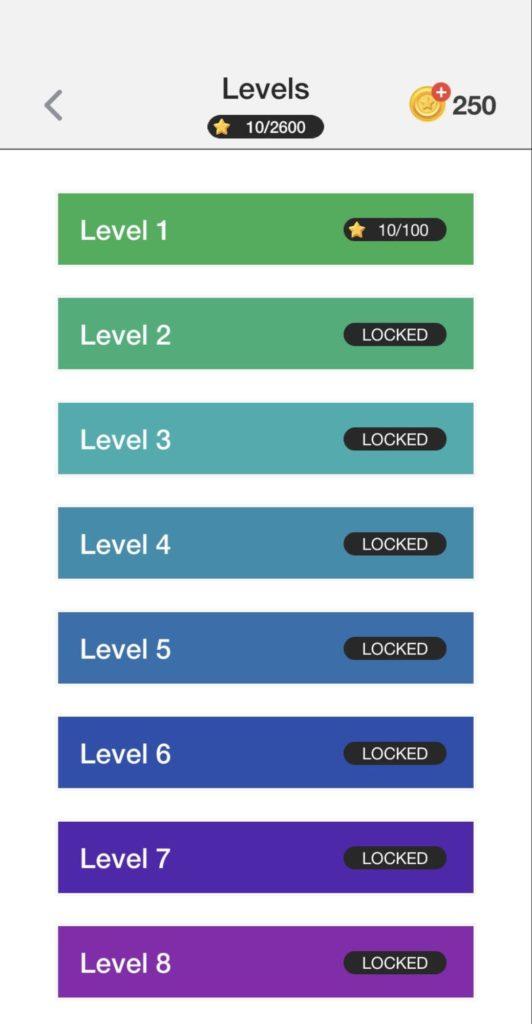 パズルゲームFillの問題数