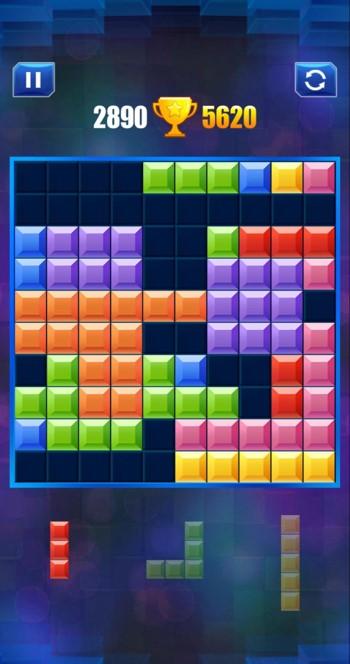 ブロックパズルの置けないブロック