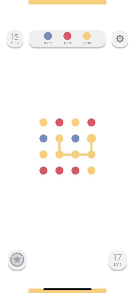 Two Dotsのゲーム画面