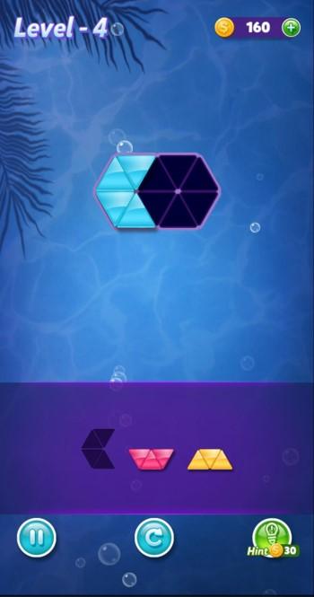 ブロック!三角パズルのゲーム画面