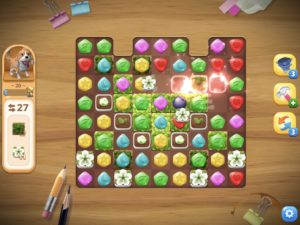 パズルゲーム、ブロック消去中