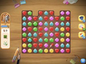 パズルゲームの画面