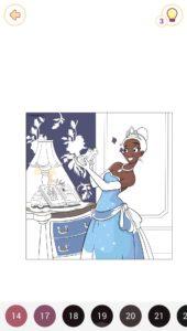 プリンセスの塗り絵