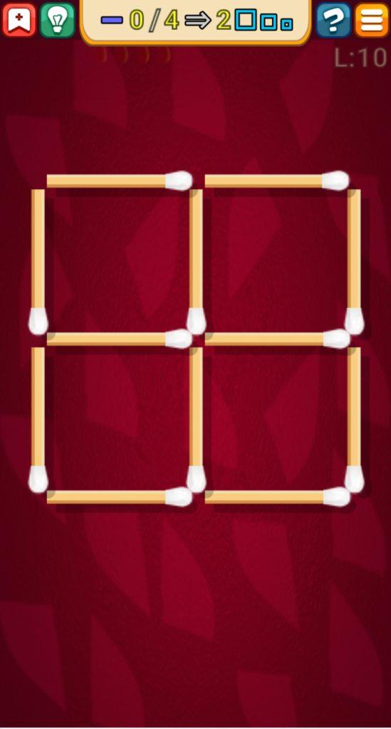 マッチ棒パズル 10