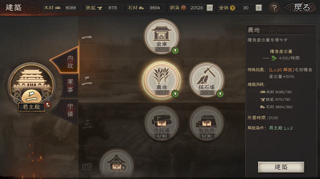 三國志真戦 内政2